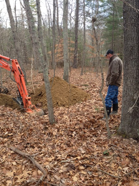 Backhoe pits for septic system soil evaluation